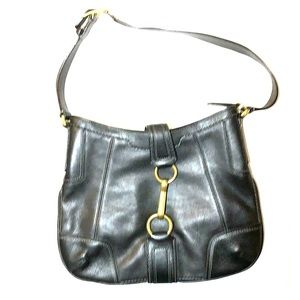 Classic Coach Bag with Gold tone hardware